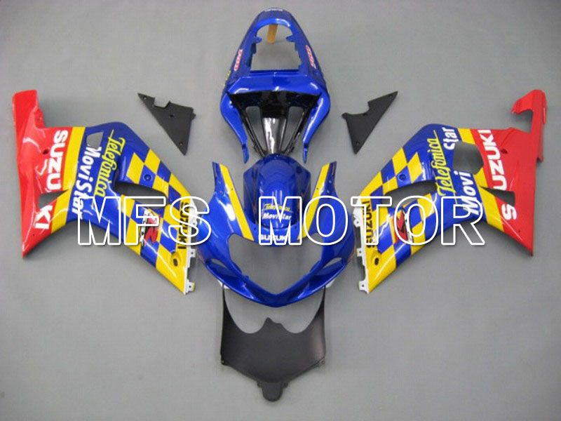 Injeksjon ABS Fairing For Suzuki GSXR750 2000-2003 - Movistar - Rød Blå Gul - MFS7031 - Shopping og engros