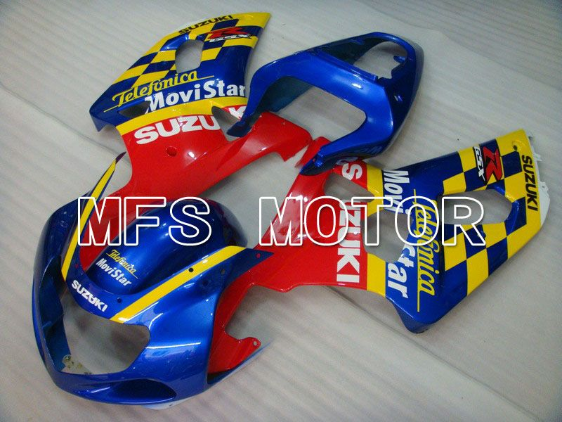 Injeksjon ABS Fairing For Suzuki GSXR750 2000-2003 - Movistar - Rød Blå Gul - MFS7032 - Shopping og engros