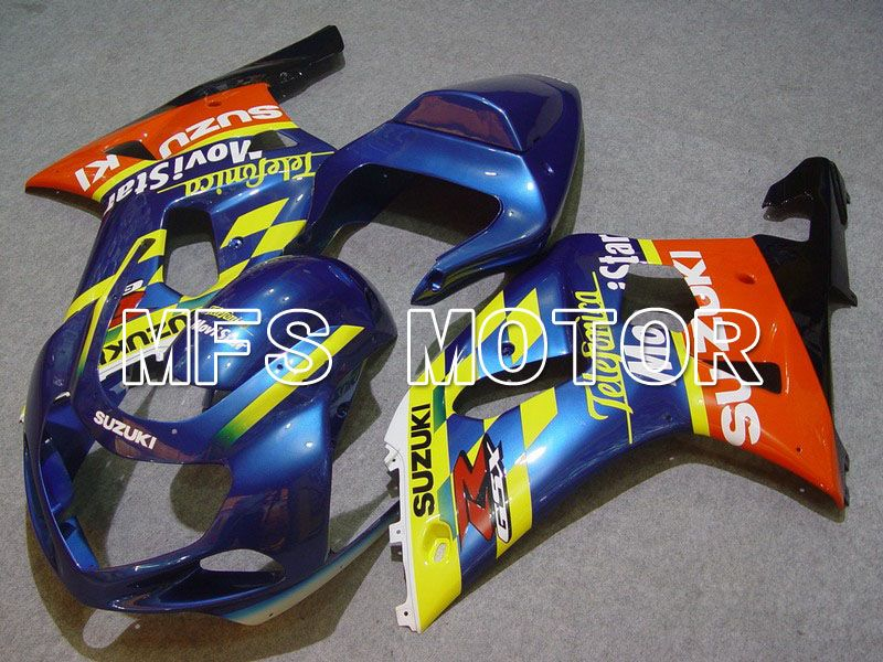 Injeksjon ABS Fairing For Suzuki GSXR750 2000-2003 - Movistar - Orange Blå Gul - MFS7033 - Shopping og engros