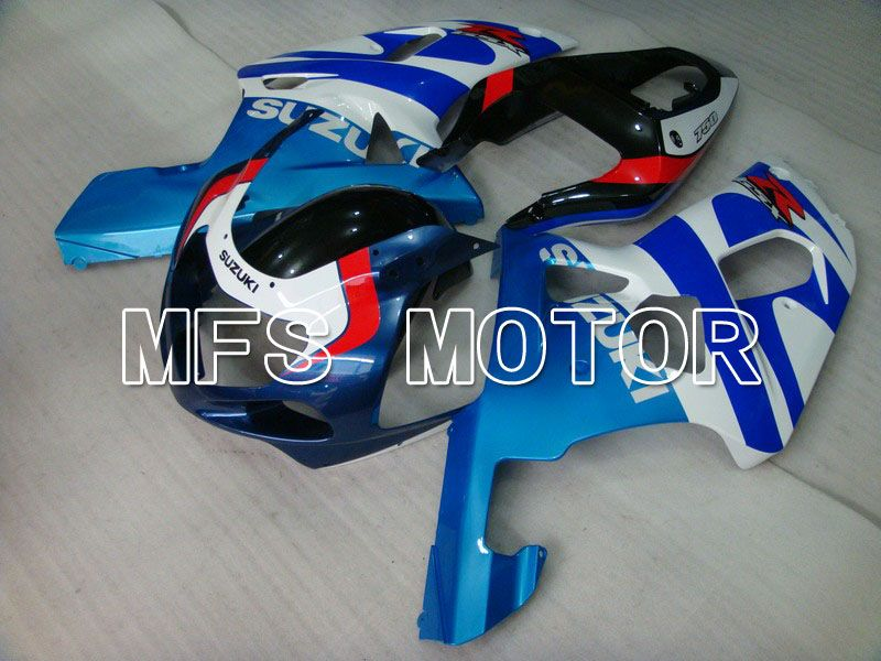 Injection ABS Fairing For Suzuki GSXR750 2000-2003 - Factory Style - White Blue - MFS7056 - shopping and wholesale
