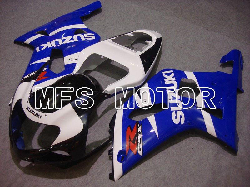 Injection ABS Fairing For Suzuki GSXR750 2000-2003 - Factory Style - White Blue - MFS7062 - shopping and wholesale