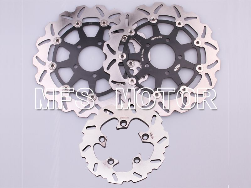 Front Rear Brake Rotors Disc For Suzuki GSXR600 750 04-05 GSXR1000 03-04