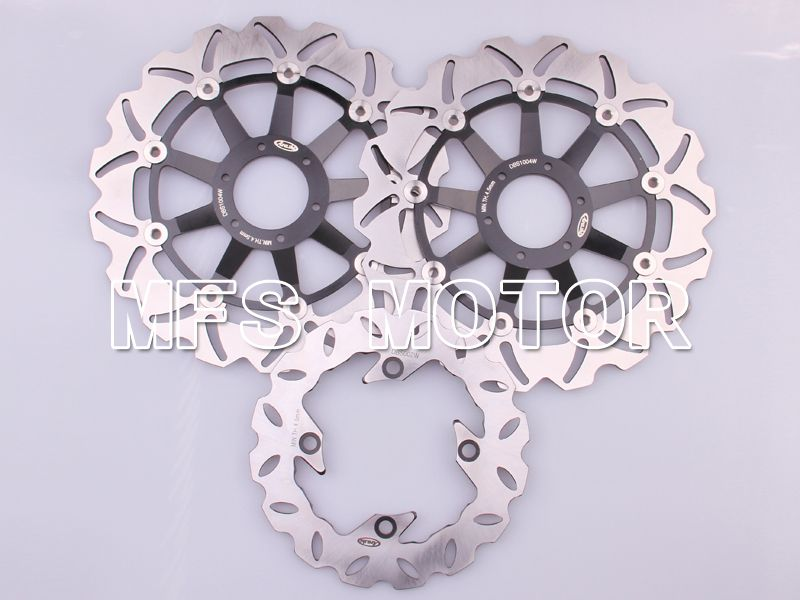 Front Rear Brake Rotors Disc For Honda CBR600 F4 1999-2000