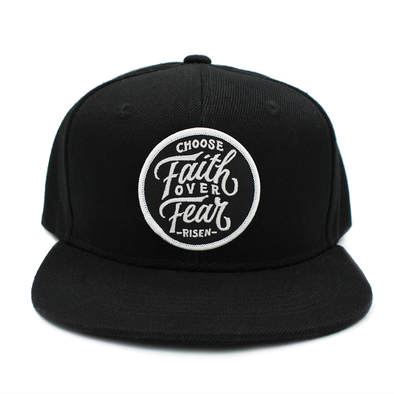 KIDS black choose faith over fear snapback (Jr.)