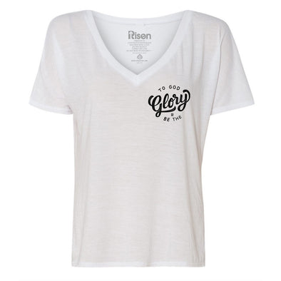 To God be the glory NEW Women's white tee