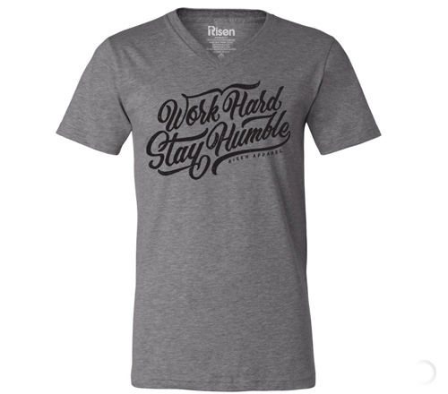 Work hard tee V neck