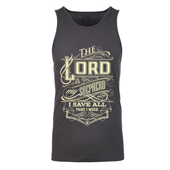 The Lord is my Shepard Gray tank top