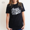 Jesus saves black tee