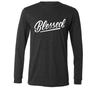 Blessed charcoal long sleeve tee