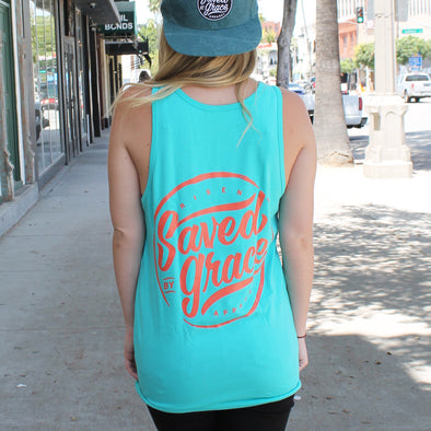 Saved by grace tank top