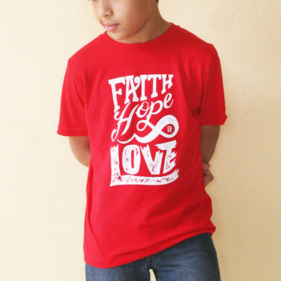 Faith hope love junior t-shirt