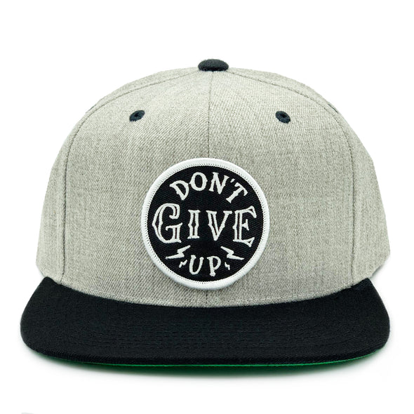 Don't give up black and gray snapback