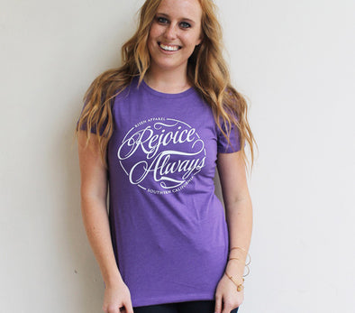 Rejoice always women's tee