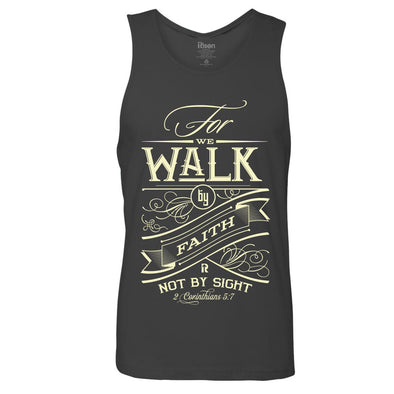 Walk by faith Men's tank top