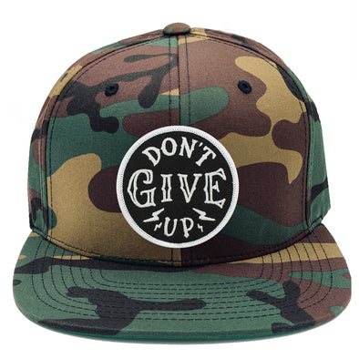 dont give up Don't give up risen apparel christian arm camo baseball cap