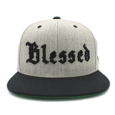 Blessed Old English snapback by Risen Apparel united for all Christian clothing