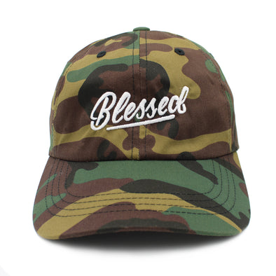 blessed camo army dad cap by risen apparel christian clothing