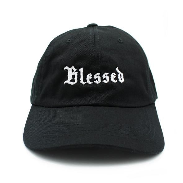 Blessed Old English dad cap by Risen Apparel united for all Christian clothing