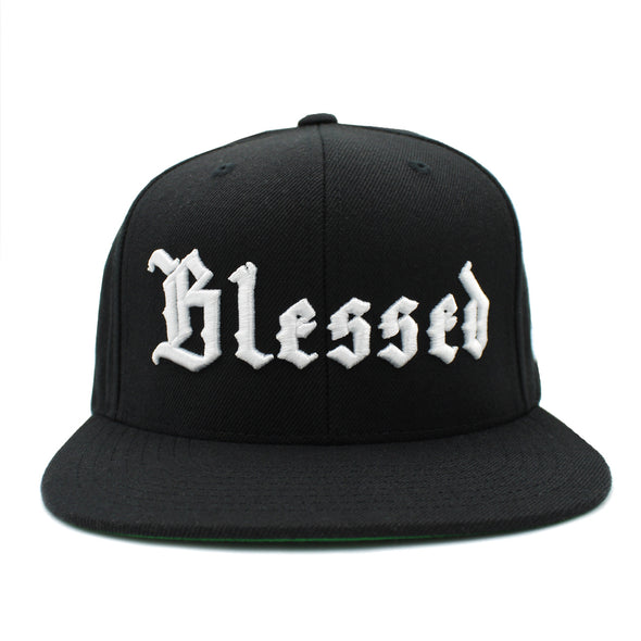 Blessed Old English Black Snapback