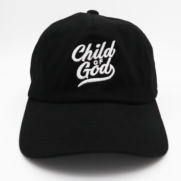 Child of God black dad cap
