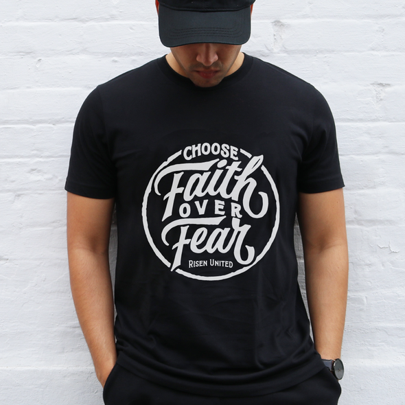 Choose faith over fear black Tee