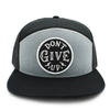 Don't give up gray & black trucker hat
