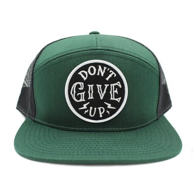 Don't give up green 5 pannel snapback