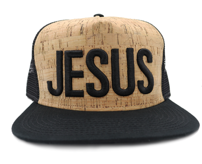 Jesus cork trucker hat