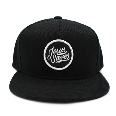 Jesus saves kids junior black snapback