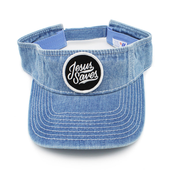 Jesus saves denim risen apparel christian visor