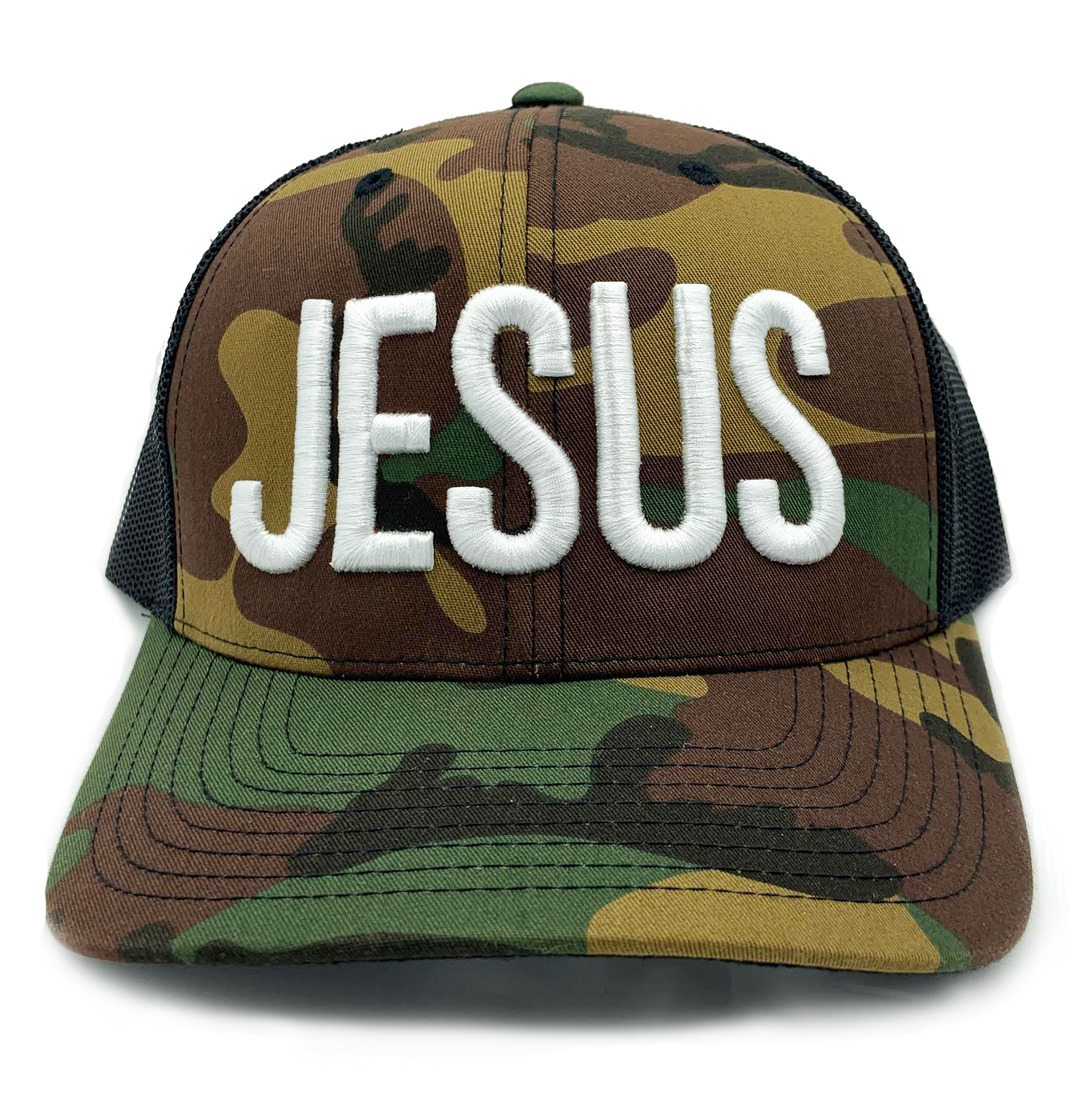 357a34f9f152d New Jesus blue trucker hat by Risen Apparel Christian clothing