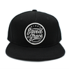 SAVED BY GRACE RISEN APPAREL CHRISTIAN KIDS JUNIOR BLACK SNAPBACK