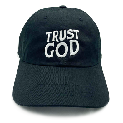 Trust God Dad cap black
