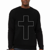 White cross black christian sweater by Risen Apparel Jesus paid it all for you and me