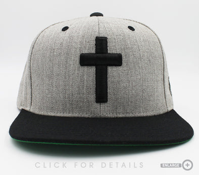 Cross black and gray snapback