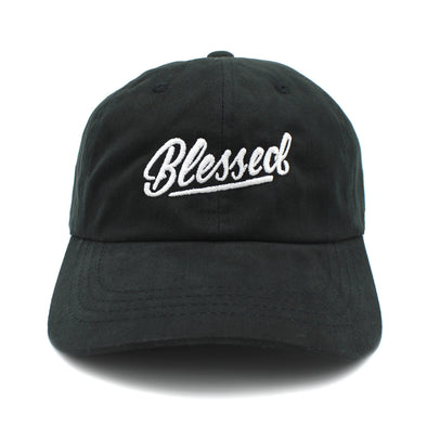 Blessed classic black dad cap