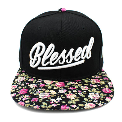 Blessed floral snapback by risen apparel christian clothing