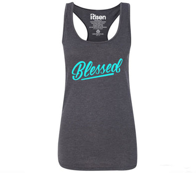 Blessed gray Women's tank top
