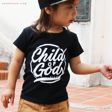 Toddler  Child of God black Tee