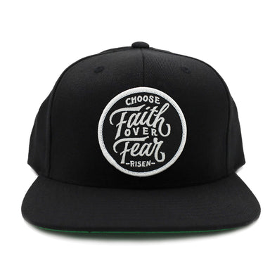 Choose faith over fear christian black snapback by risen apparel