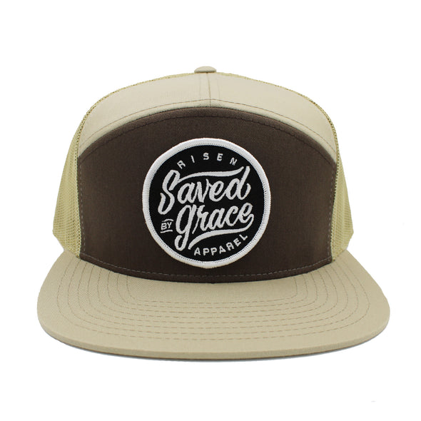 Saved by Grace Risen Apparel Christian snapback