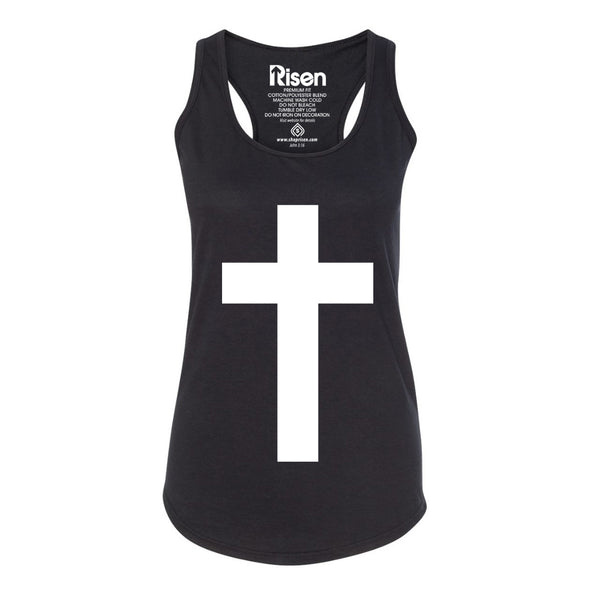 Cross black Women's tank top
