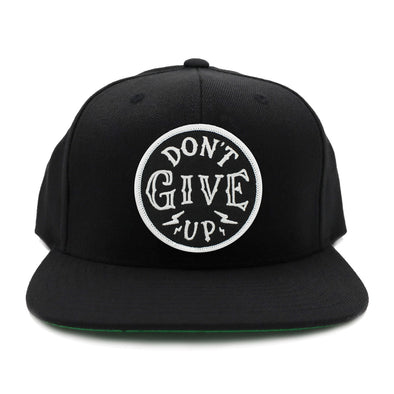 Don't give up black snapback