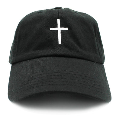 Dad Cap Cross Black & White Cross