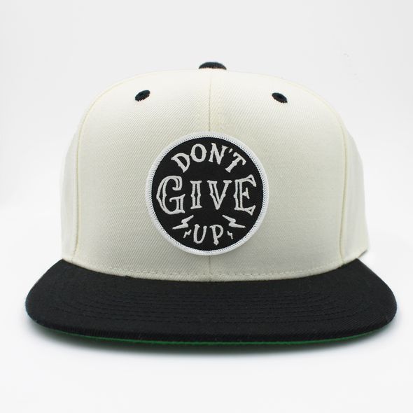 dont give up Don't give up risen apparel white snapback