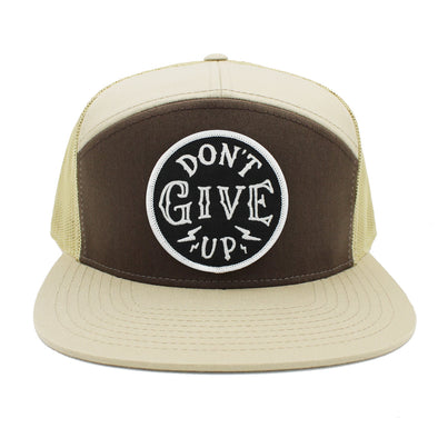 Don't give up brown / khaki trucker hat