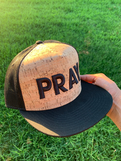 Pray cork trucker hat