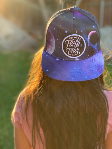 Choose faith over fear Space trucker snapback (Jr.)