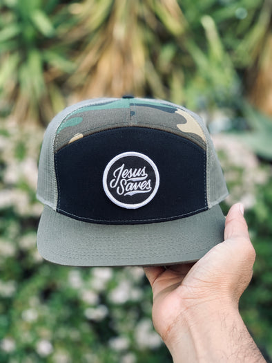Jesus Saves army trucker snapback