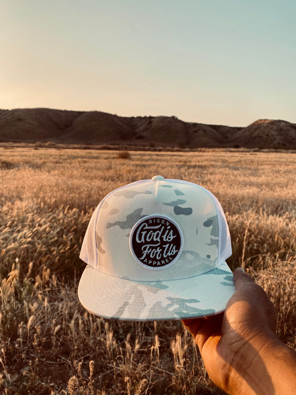 White God is for us army trucker hat